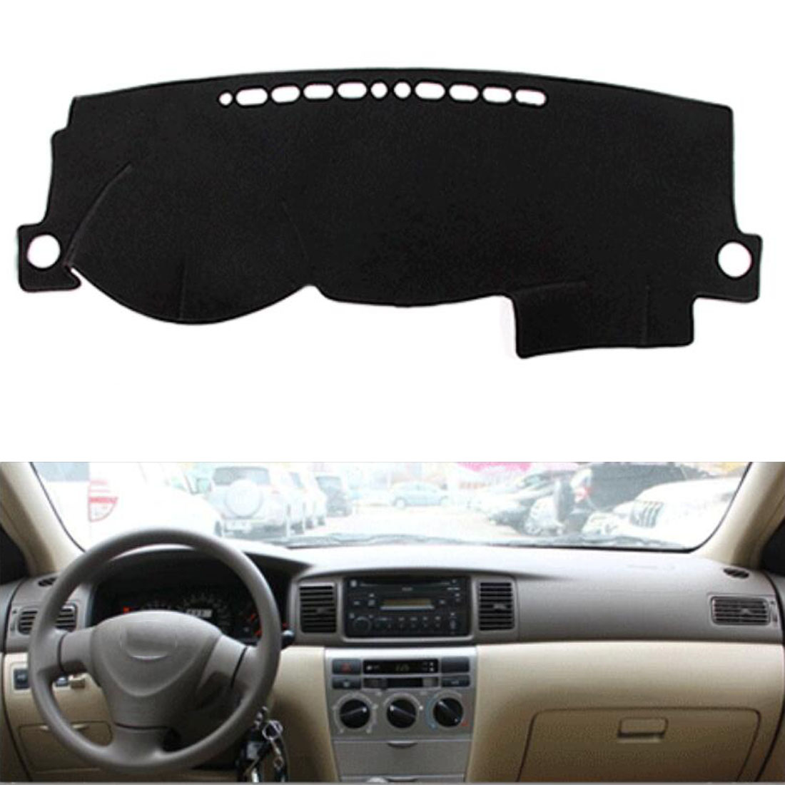 Dongzhen Fit For Toyota Corolla EX 2003-2011 Car Dashboard Cover Avoid Light Pad Instrument Platform Dash Board Cover Mat