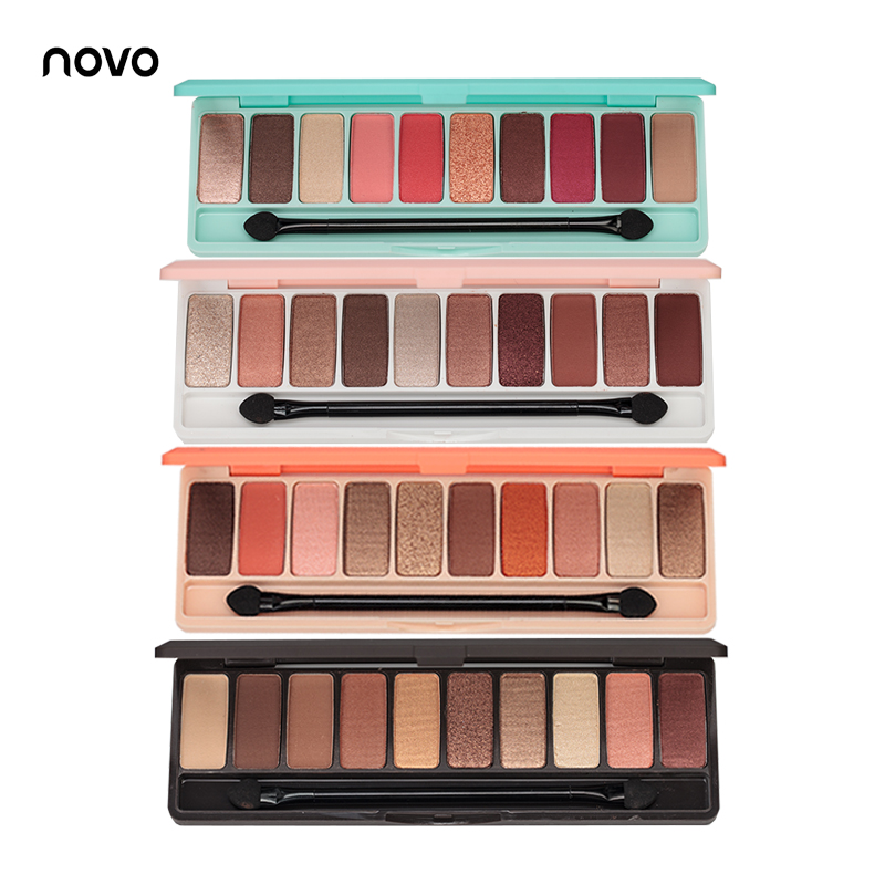 Fashion eyeshadow palette 10Colors Matte EyeShadow naked palette Glitter eye shadow MakeUp Nude MakeUp set Korea Cosmetics 1