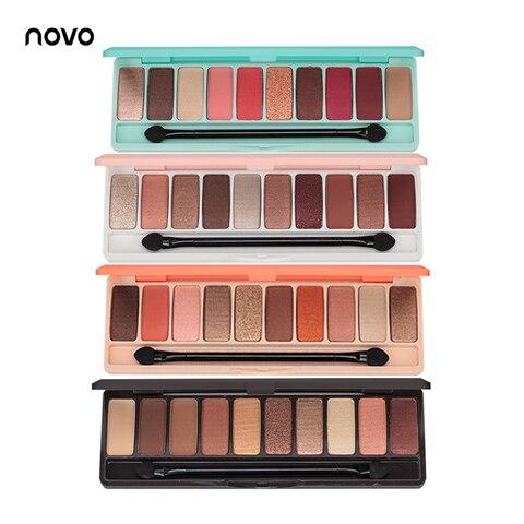 NOVO Fashion eyeshadow palette 10Colors Matte EyeShadow naked palette Glitter eye shadow MakeUp Nude MakeUp set Korea Cosmetics Lahore