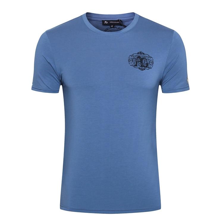 มหาเศรษฐีชายเสื้อ T shirt 2019 ฤดูร้อนใหม่แฟชั่นสบายๆบาง England comfort elegant goemetry ผ้าฝ้าย O   Neck จัดส่งฟรี-ใน เสื้อยืด จาก เสื้อผ้าผู้ชาย บน   1