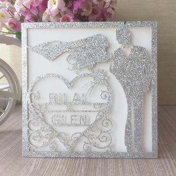 40Pcs/Lot Laser Cut Customizable Printable Invitation Card Romantic Wedding Invitations Event&Party Supplies Greeting Card