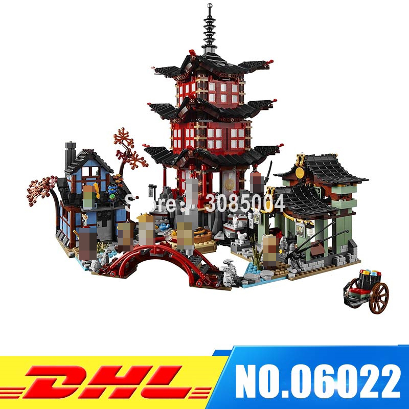 IN-STOCK 2150pcs Lepin 06022 City of Stiix Building Blocks Temple of Airjitzu anime figures Kids Bricks Toys brinquedos 70603