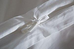 Image 5 - 80 s 이집트 면화 새틴 순수한 흰색 고급 호텔 침구 세트 퀸 킹 사이즈 부드러운 실크 느낌 침대 시트 시트 이불 커버 세트