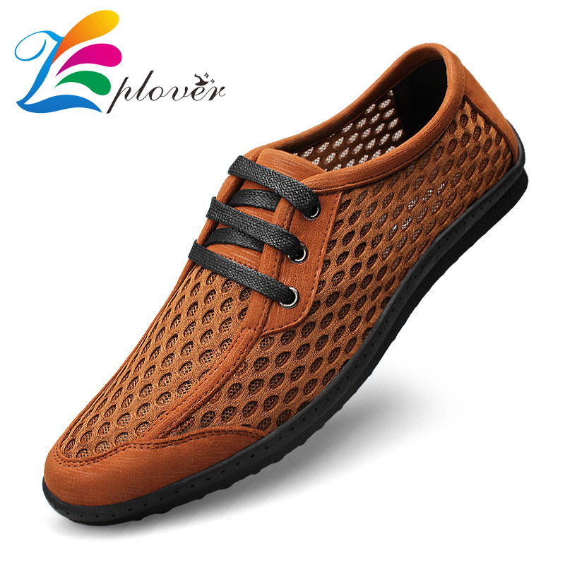 ФОТО 2017 New Summer Breathable Mesh Shoes Men Casual Shoes Slip On Shoes Men Fashion Walking Shoes Sapato Masculino Zapatillas