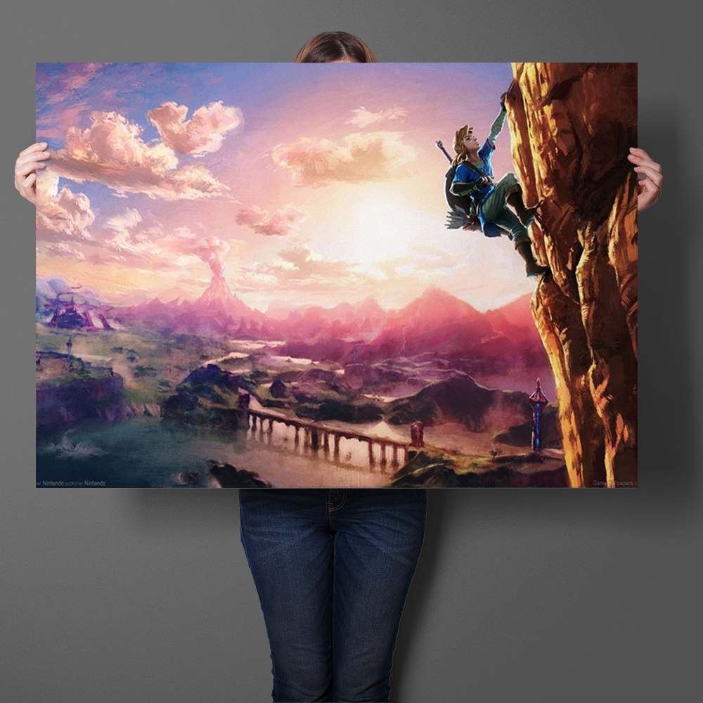 The Legend of Zelda: Breath of the Wild Game Art Prints Silk Fabric Poster And Print Wall Art Picture Painting Home Decor