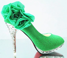 Green Women Shoes Women Pumps Wedding Shoes Glitter Gorgeous Bridal Shoes Crystal Red Bottom High Heels Sexy Womens Shoes Woman стоимость