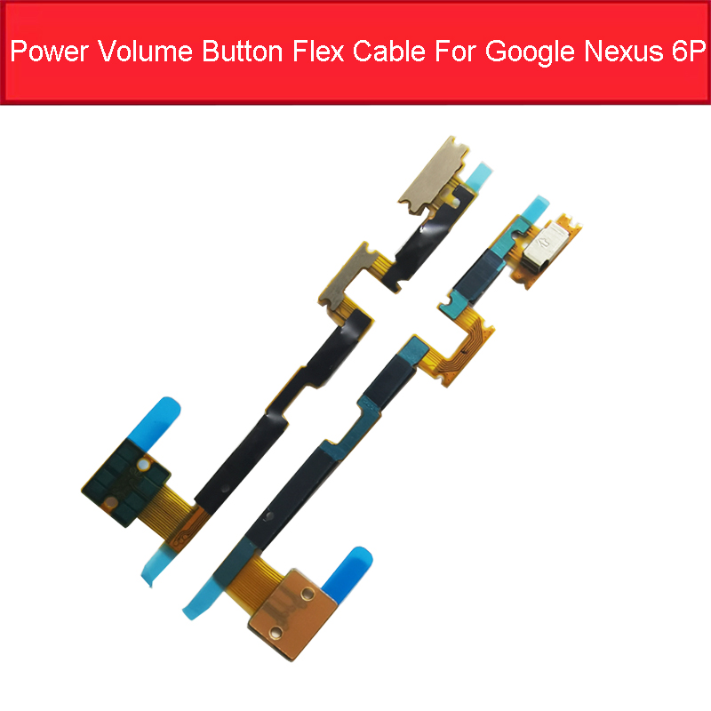 On OFF Power Screen Lock Flex Cable For Google Nexus 6P Volume Button Down And Up Flex Ribbon Switch Button Repair Replacement