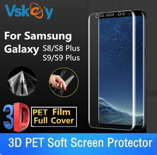 VSKEY 10 pcs 3D Doux PET Film Pour Samsung Galaxy S9 S8 Plus Protecteur D  écran S8 + S9 + Plein couverture De Protection Film aed91ae99b38