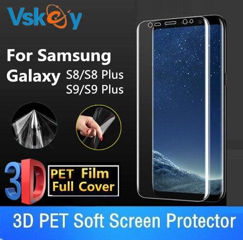 0404dc0c289 Vskey 10 unids 3D suave Películas para Samsung Galaxy S9 S8 Plus protector  de pantalla S8 + S9 + full cubierta protectora Películas
