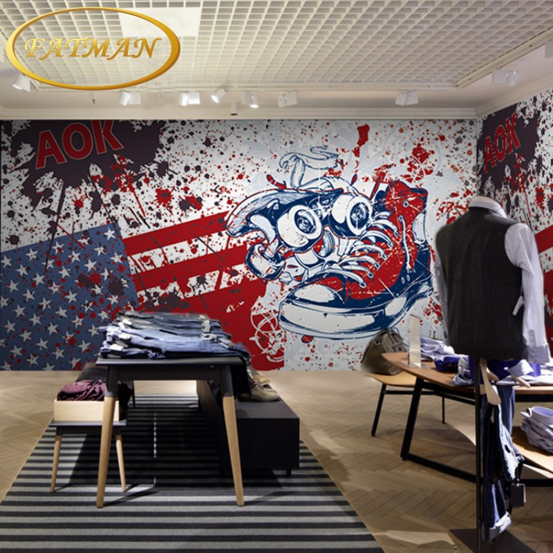 Custom photo wallpaper 3D hand-painted graffiti wallpaper clothing store restaurant billiard room wallpaper mural free shipping watercolor art living room lobby mural fashion salon shop clothing store restaurant lounge bar wallpaper