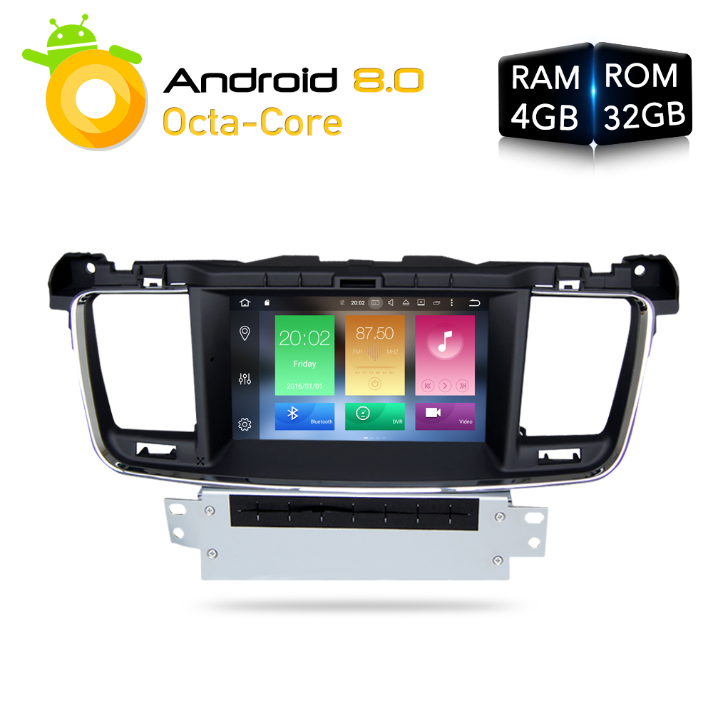 Android 8.0 Car DVD Player GPS Glonass Navigation for Peugeot 508 2011 2012 2013 2014 3G Bluetooth Radio RDS Audio Video Stereo rom 16g 2 din android car dvd for mazda cx 5 2012 2013 2014 navigation radio audio gps ipod bluetooth russian menu