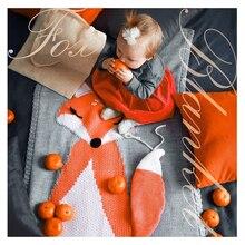 Новое детское одеяло с рисунком лисы, Пеленальное полотенце для новорожденных, банное полотенце, детское мягкое теплое шерстяное одеяло для сна, Пеленальное постельное белье, пляжное полотенце s