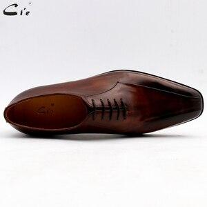 Image 3 - Cie zapatos de vestir de cuero para hombre, calzado de oficina marrón, suela de Piel De Becerro auténtica, trajes de cuero Formal, hechos a mano, n. ° 8