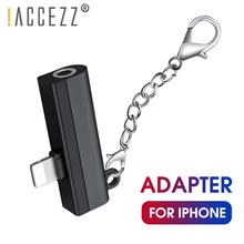 !ACCEZZ 2 IN 1 Dual Lighting Adapter For Iphone X XS MAX XR 7 8 Plus Charging 3.5mm Jack Audio Earphone Connector 6S