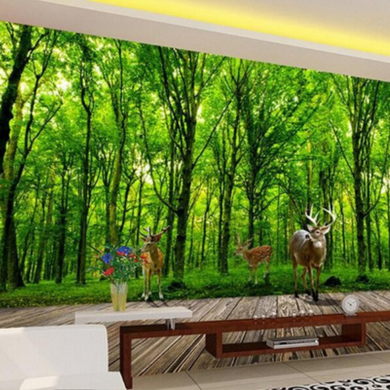 Custom 3d photo wallpaper backdrop stereoscopic modern for Deer landscape wall mural