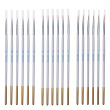 MEEDEN 6pcs Set Professional Detail Paint Brush Set Art Painting Brushes for Watercolor and Oil Drawing