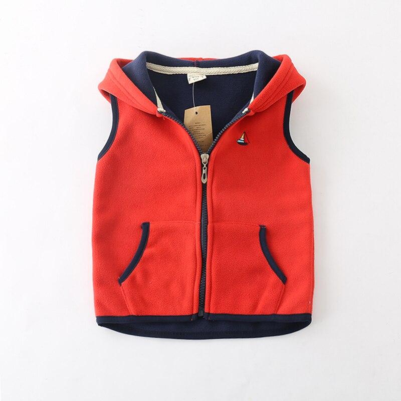 Sundae Angel Children Vest For Girl Boys Waistcoat Hooded Warm Polar fleece Sleeveless Outerwear Kids Baby Vests Coat For 18M-7Y 6