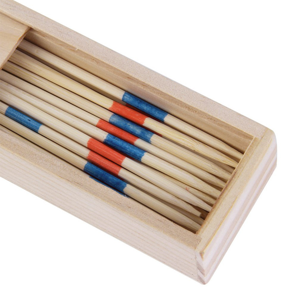 Baby Educational Wooden Traditional Mikado Spiel Pick Up Sticks With Box Game Children Montessori Number Math Toys Baby Wooden
