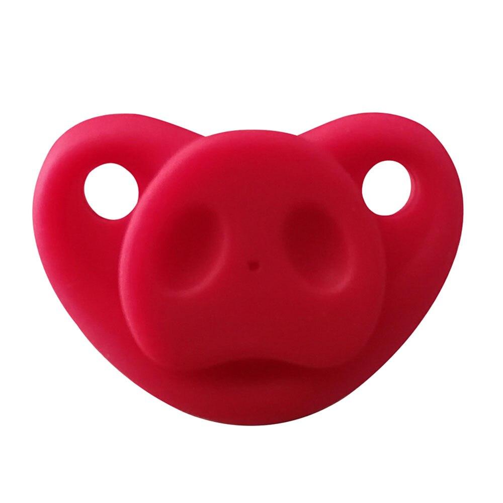 Младенческая Соска-пустышка креативный Мягкий Силиконовый грызунок Свинья Нос подарки шутка малыш - Цвет: red