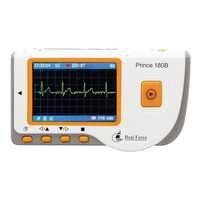 Heal Force Prince 180B Gemakkelijk Handheld Draagbare Eenheid Met 3-Lead Kabel & Elektroden & USB Kabel Thuisgebruik