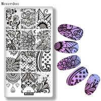 Dentelle vigne Net Style Nail Art timbre plaque Nail Art modèle manucure fleur feuille lune ongles estampage Image plaque pour estampage outil