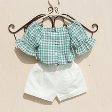 New Arrival Girls Summer Blouses Casual Cotton Kids Plaid Shirt Toddler Button Down Shirts Ruffle Kids Clothes Girls 8 To 12 14Y girls plaid blouse 2019 spring autumn turn down collar teenager shirts cotton shirts casual clothes child kids long sleeve 4 13t