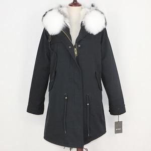 Image 3 - OFTBUY 2020 Winter Jacket Women Real Fur Coat Long Parka Natural Raccoon Fur Collar Rabbit Fur Liner Thick Warm Streetwear New