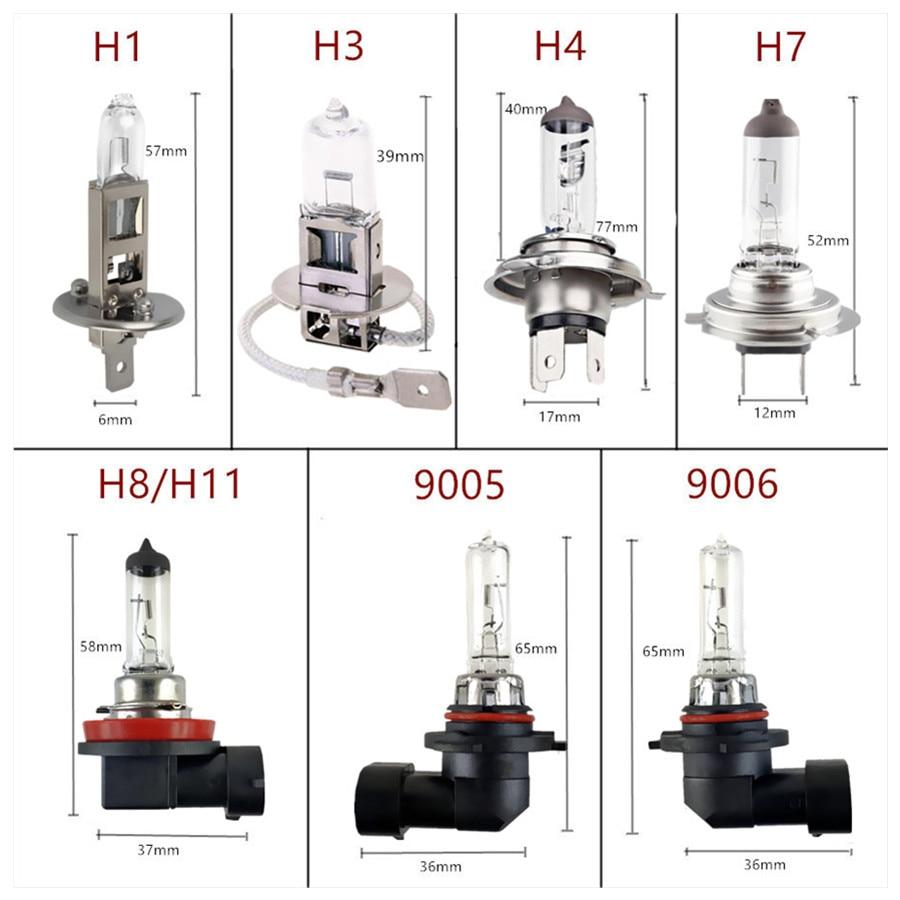 Car Halogen Bulb 12V 55W Clear 1 PCS H1 H3 H4 H7 H8 H11 9005 HB3 9006 HB4 Car Headlight Lamp Fog Lamps External Lights 4300K