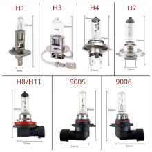 Car Halogen Bulb 12V 55W Clear 1PCS H1 H3 H4 H7 H8 H11 9005 HB3 9006 HB4 100W Car Headlight Lamp Fog Lamps External Lights 4300K free shipping high quality halogen fog lights lamps for toyota corolla altis 2011 on 55w 12v h11