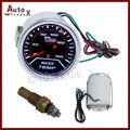 """Venda Popular 2 """"52mm Elétrica Medidor de Temperatura Da Água Do Carro LED 40-120C/Auto Medidor Com Sensor"""