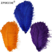 18-20 дюймов 45-50 см Frist-grade страусиное перо для украшение ручной работы изготовление