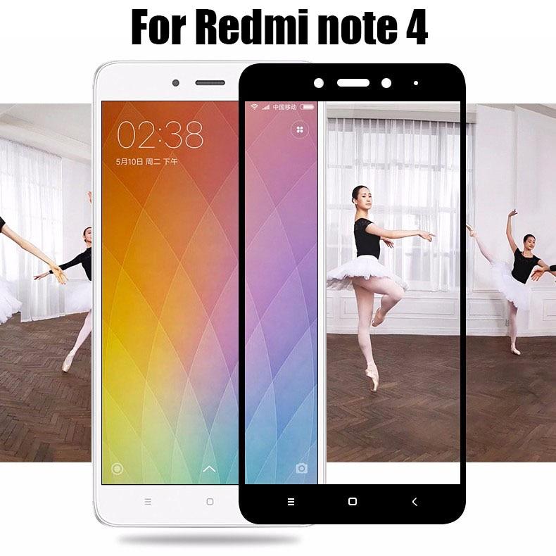 Coloré pour Xiaomi Mi Redmi Note 4 Soie Impression écran En Verre Trempé  Protecteur pour xiaomi redmi Note 4 Verre Film da6fe6db4d4