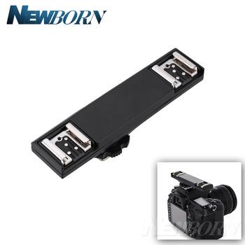 Podwójny Flash Hot Shoe TTL Off-Camera Speedlite przewód do synchronizacji wspornik ramienia do Nikon D3200 D5200 D5300 D7000 D7100 D7200 D800 D90 DSLR tanie i dobre opinie WINOTAR WS-2N