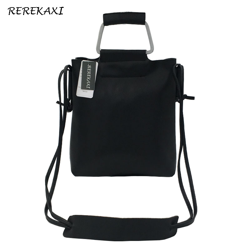 <font><b>REREKAXI</b></font> PU Leather Top Handle Women's Handbags Casual Ladies Shoulder Bags Crossbody Bag Clutch Tote Messenger Bag image