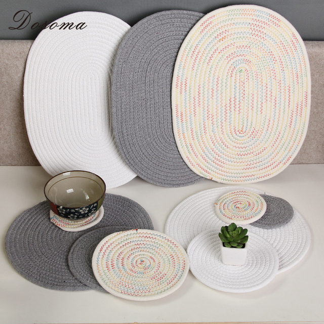 Modern Cotton Dining Table Mat Stand Under The Hot Hand Made Kitchen Placemat For Home Accessories