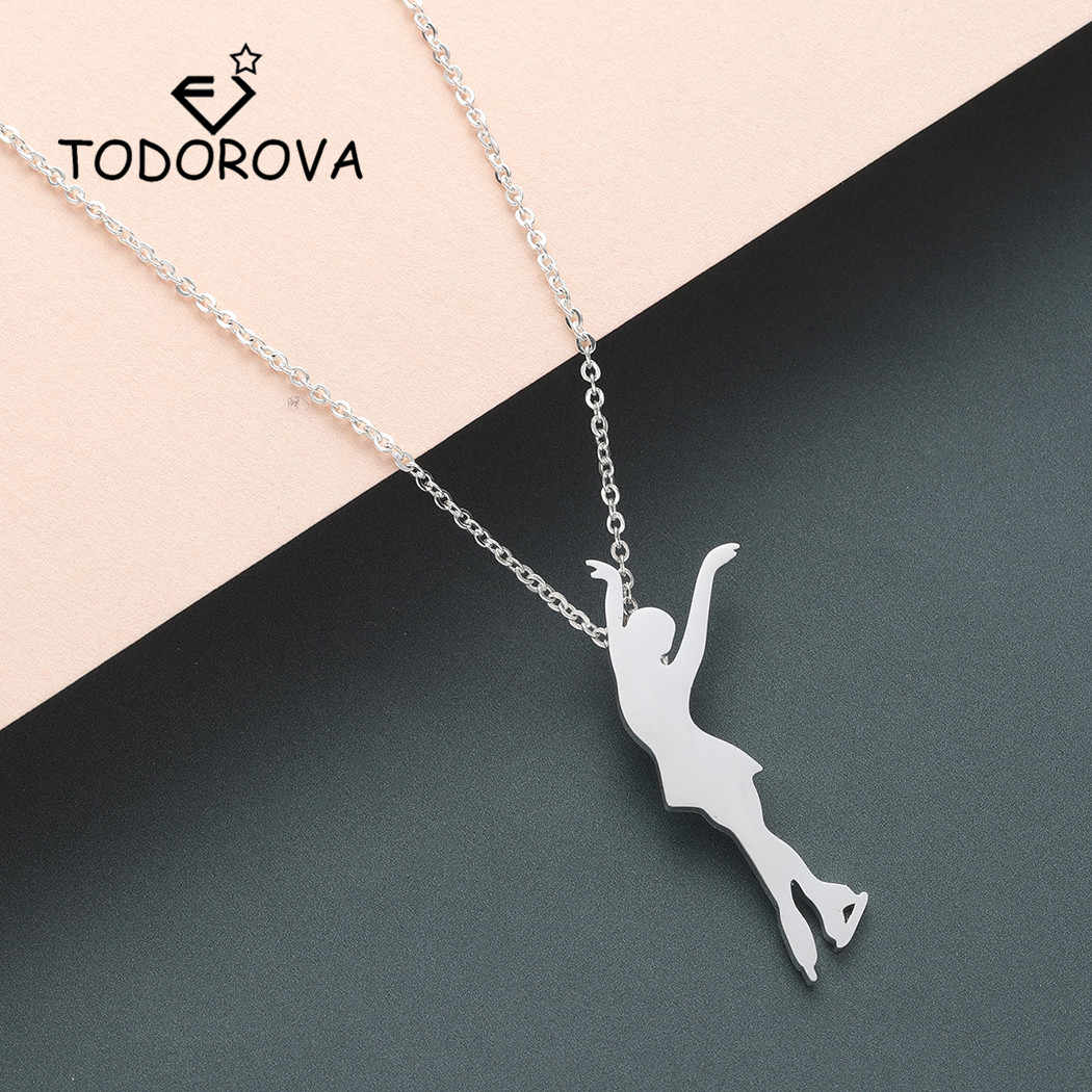 Todorova Figure Skating Pendant Necklace Men Choker Necklace Women Ice Skate Jewelry Stainless Steel Jewelry Drop Shipping