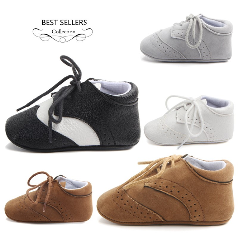 Toddler Girl&boy High Cut Anti Non-slip Shoes Newborn Flock Leather Shoes With Hard Rubber Sole  Boy Sneaker Shoe