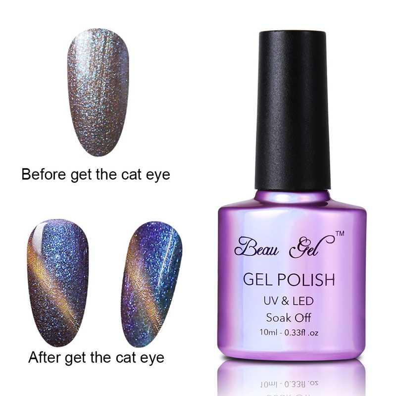 Beau Gel Chameleon Kuku UV Warna Unhas De Gel Nail Polish Bling Magnet Cat Eye Nail Polish 10 Ml gelpolish