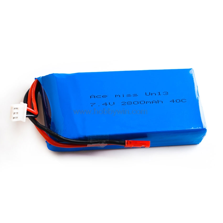 7.4V <font><b>2S</b></font> <font><b>2800mAh</b></font> 40C <font><b>LiPO</b></font> Battery JST plug for RC Model Airplane Racing Speedboat FPV Drone Lipolymer Power image