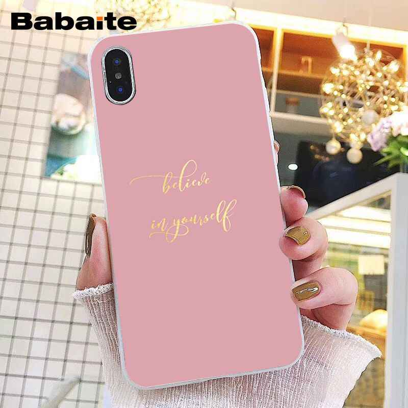 Babaite amor coração ouro rosa listras de mármore caso telefone para iphone 11 pro 11pro max 8 7 6 s plus x xs max 5 5S se xr