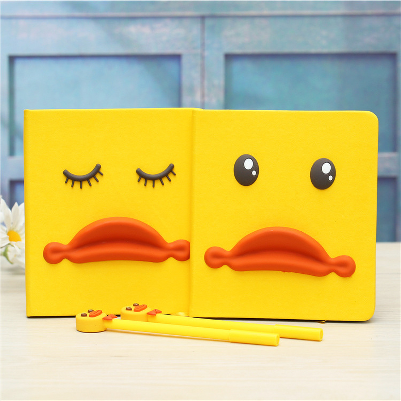 New fancy notebook Zakka grocery creative yellow duck Notepad Notebook diaries gift box gift Office & School Supplies WHOLESALE creative home zakka grocery shelf pastoral style trapezoidal miscellaneous succulents display