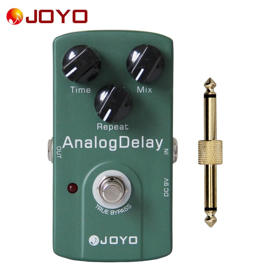 JOYO JF-33 Analog delay pedal Guitar pedal+1 pc pedal connector guitar effect pedal new guitar effect pedal joyo digital reverb space verb ironman series mini pedal jf 317 1 pc pedal connector
