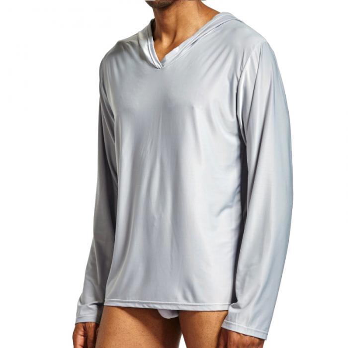 Masculino casual homewear com capuz mangas compridas