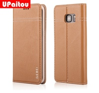 Luxury Handmade Genuine Leather Case For Samsung Galaxy S7 G930F S7 Edge G935F Flip Wallet Case