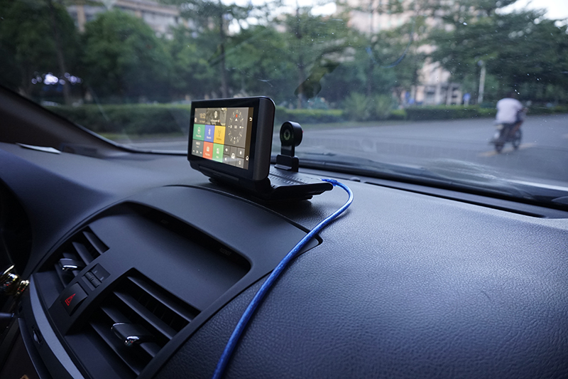 "6.86"" inch 4G ADAS Car DVR Dash Cam Mirror GPS Bluetooth WIFI Android 5.0 Dual Lens FHD 1080p Video Recorder Camera 2"