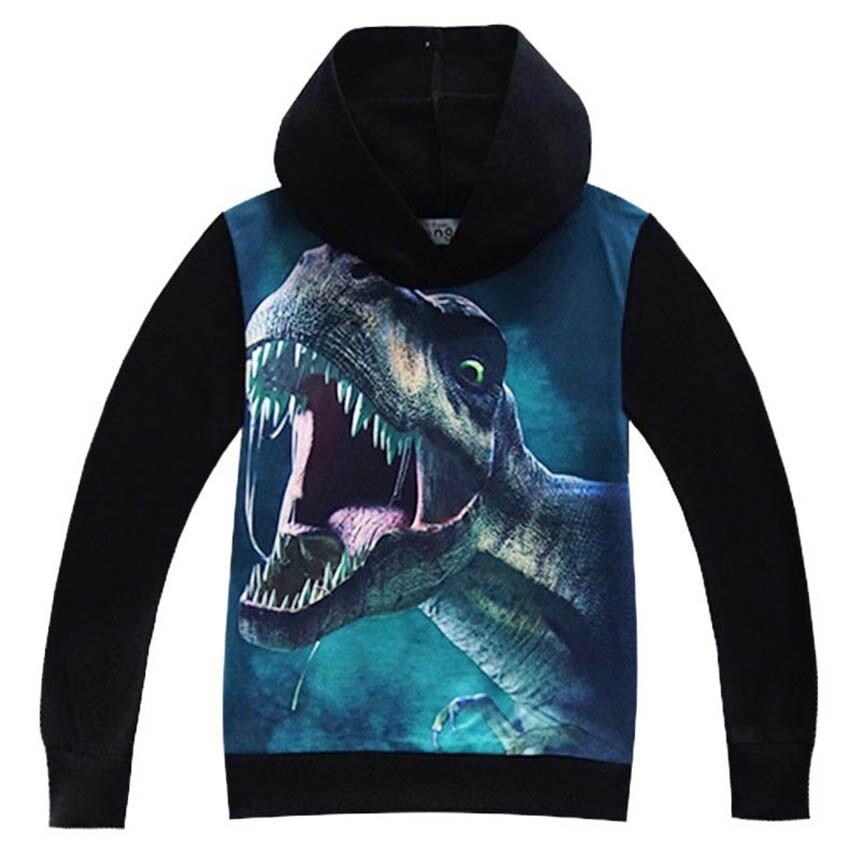 3D Print Dinosaur hoodies Boy Sweatshirts Cotton Clothing Kids Boys tshirt Children Clothing Summer Autumn Baby T shirts clothes