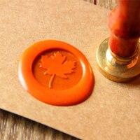 Maple Leaf Wax Seal Stamp Autumn Sealing Wax Seal Wedding Wax Stamp