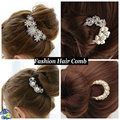 New Fashion Jewelry Angel Design Pearl And Crystal Hairwear Hair Combs Headbands Hair Jewelry for women wedding hair accessories