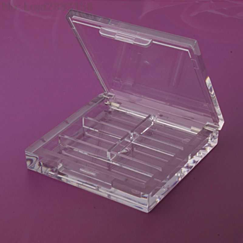 4 Grids Persegi Panjang Eyeshadow Pigmen Kosong Wadah Palet Plastik Portable Lipstik Dispenser Case Tray Makeup