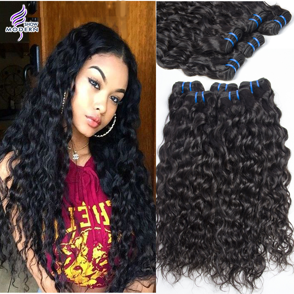 us $50.19 |aliexpress : buy malaysian virgin hair water wave 4 bundles loose curly weave human hair modern show hair products wet and wavy virgin